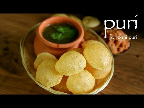 Puri Recipe For Pani Puri - Gol Gappe Puri Recipe - How To Make Golgappa Recipe