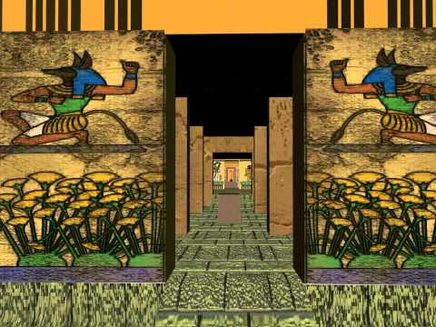A 3D Egyptian Temple Walk-Through