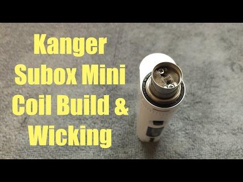 Kanger Subox Mini RBA Coil Build & Wicking