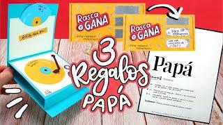 3 REGALOS FÁCILES para PAPÁ!! (Día del padre!) ✄ Barbs Arenas Art!