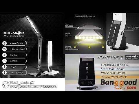 BlitzWolf® BW-LT1 Умная LED настольная лампа с технологией защиты глаз 2.1A USB зарядка (banggood)