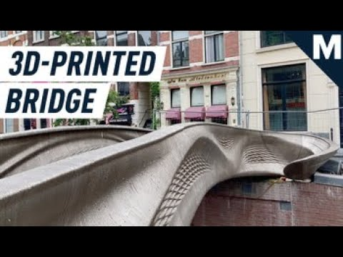 The World's Very First 3D-Printed Bridge is Open in Amsterdam | Mashable