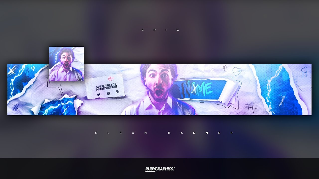 Free Gfx Free Photoshop Banner Template Clean 2d Epic Style Banner