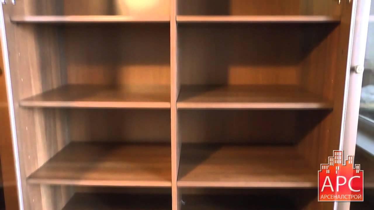 Книжный шкаф для домашней библиотеки на заказ - youtube.