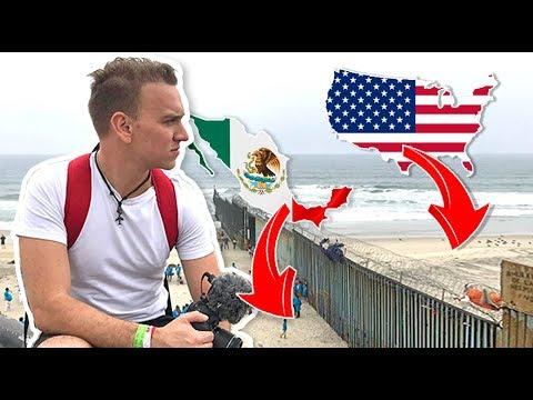 Asi se CRUZA la frontera 🇺🇸 ESTADOS UNIDOS 🇲🇽 MEXICO a Pie - Oscar Alejandro