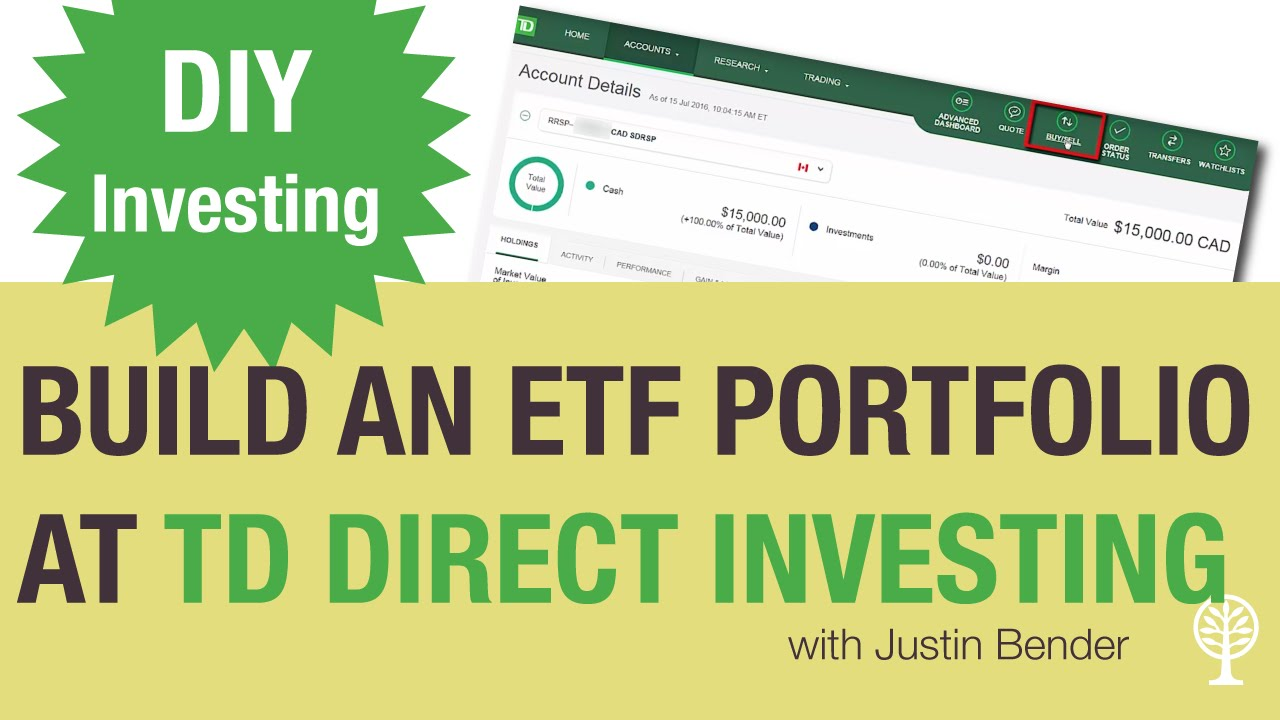 How to Build an ETF Portfolio at TD Direct Investing