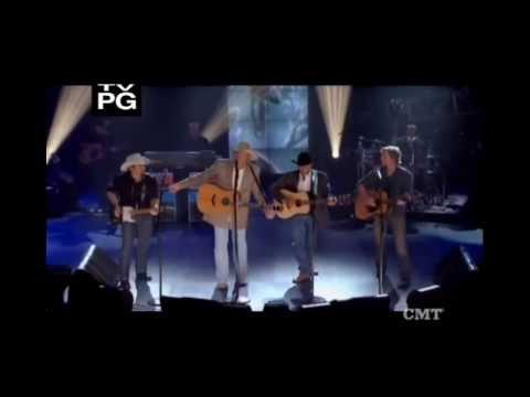 "Alan Jackson ((With George, Dierks, & Brad)) -""Country Boy"""