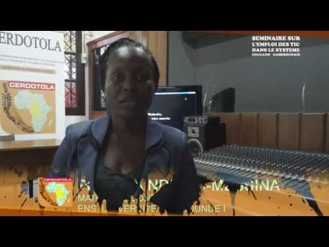 Séminaire TIC-Système Educatif : Itw de Pr Julia Ndibnu-Messina Ethé