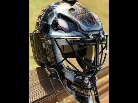 Slipknot goalie mask for Slipknot drummer Jay Weinberg's hockey team!