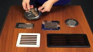 видео Вентиляционная решетка с гравитационными жалюзи — фото