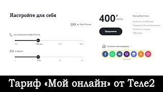 обзор тарифа Теле2 «Мой онлайн»