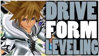 EASY DRIVE FORM LEVELING GUIDE | Kingdom Hearts 2.5 - Level Up FAST!