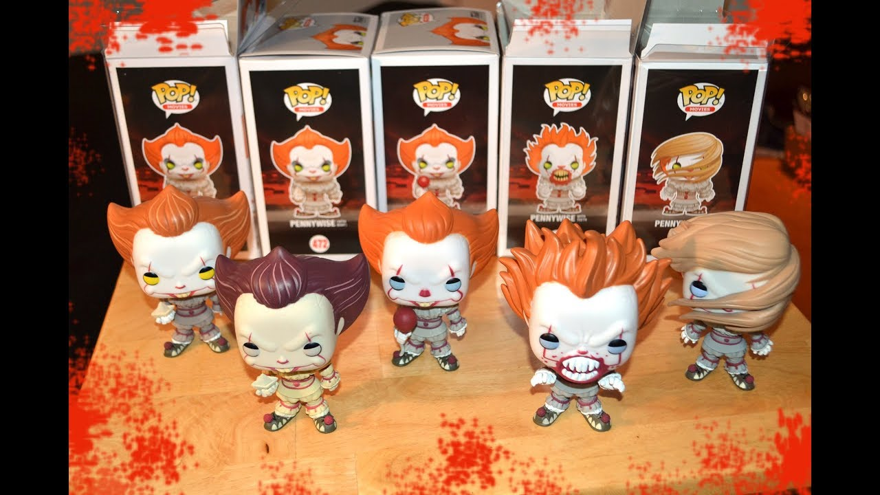 Funko Pop Complete Pennywise Figure Collection From It