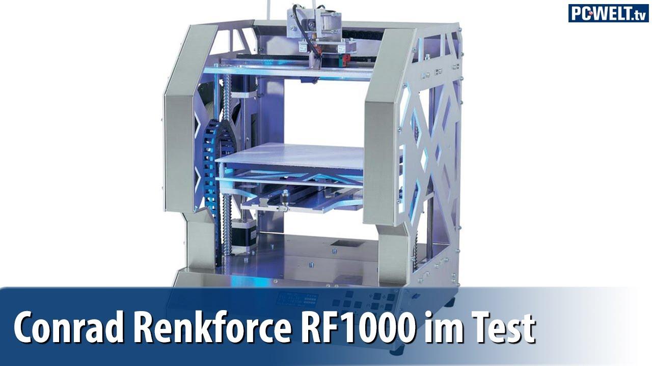 3d drucker f r fortgeschrittene conrad renkforce rf1000 im pc welt test deutsch german. Black Bedroom Furniture Sets. Home Design Ideas