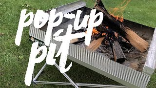 Truly Portable Fire Pit & BBQ | Pop-Up Pit Cooking & Review