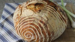 Okneti das Brot ohne Kneten