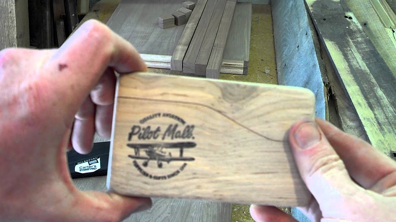 pallet wood custom business card cases youtube - Custom Business Card Holder