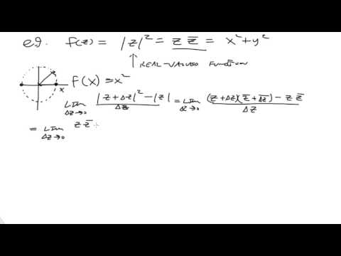 The derivative of a complex function