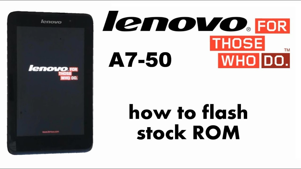 How to flash stock ROM - Jelly Bean / KitKat Lenovo A3500
