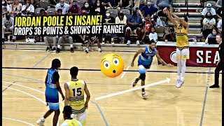 Jordan Poole Goes ABSOLUTELY NUTS At The Crawsover Pro Am! Hits RIDICULOUS 3s & More!