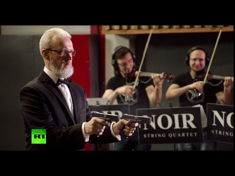 Musical Guns: Russian shooter performs 'Radetzky March' accompanied by string quartet