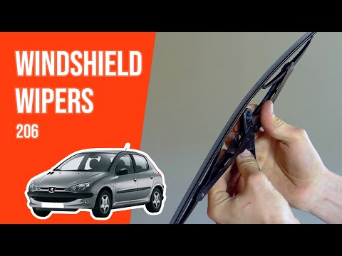 How to replace the windshield wipers PEUGEOT 206 🌧