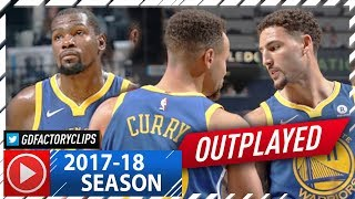 Stephen Curry, Kevin Durant & Klay Thompson Full Highlights vs Grizzlies (2017.10.21) - EJECTED!