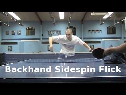 Backhand Sidespin Flick