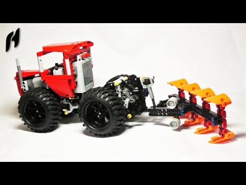articulated tractor with reversible plow moc youtube. Black Bedroom Furniture Sets. Home Design Ideas