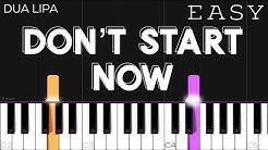 Dua Lipa - Don't Start Now | EASY Piano Tutorial