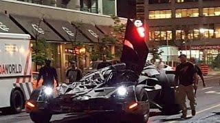 TORONTO - STREETS - Batmobile and Joker's Lambo leaked footage Suicide Squad