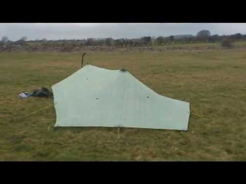 MLD Cuben Trailstar, 2nd pitch, various heights.