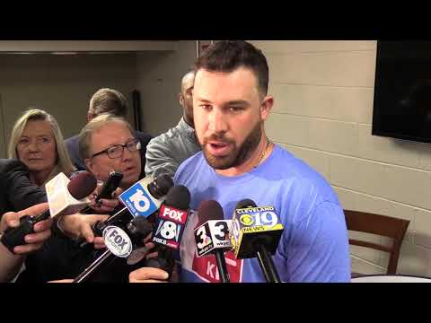 Jason Kipnis talks about his great catch and Trevor Bauer's start