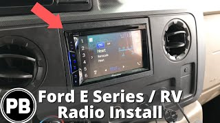 2009 - 2014 ford e-series / rv stereo install | pioneer avh-1300nex -  youtube  youtube