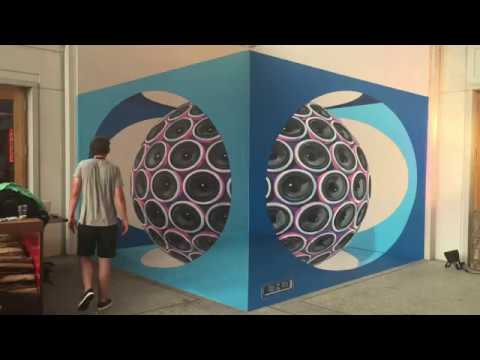 Life Festival Schaan – 3D painting optical illusion liechtenstein