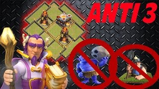 Clash Of Clans - BEST Town Hall 11 TH11 ANTI 3 War Base - Anti Bowler - Anti Miner - 2016 + REPLAYS