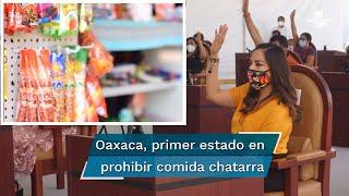 """Oaxaca se convirtió en el primer estado del país en legislar en contra de la venta directa de """"alimentos chatarra"""" a menores de edad, una iniciativa que busca atender la """"epidemia de obesidad"""" que vive la infancia en México"""