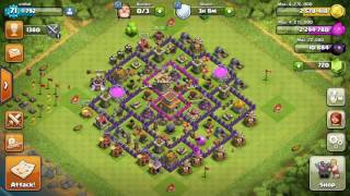 Clash of CLANS- How to almost max your storages in 1 attack. Full elixir and gold!!!