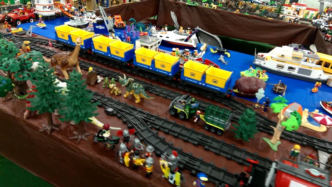 Playmobil railroad layout 2013 - YouTube |Playmobil Train Layouts