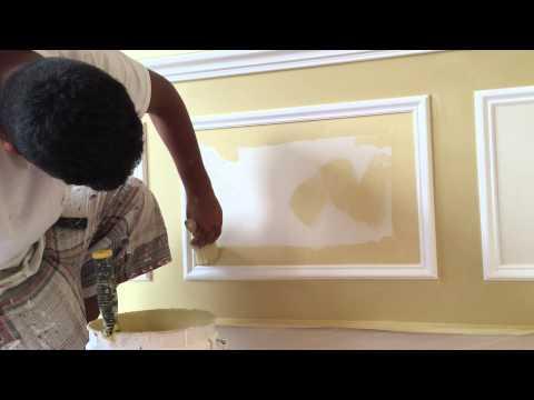 Charles Graves Painting Crew - Oscar painting walls, Inbetween shadow boxes