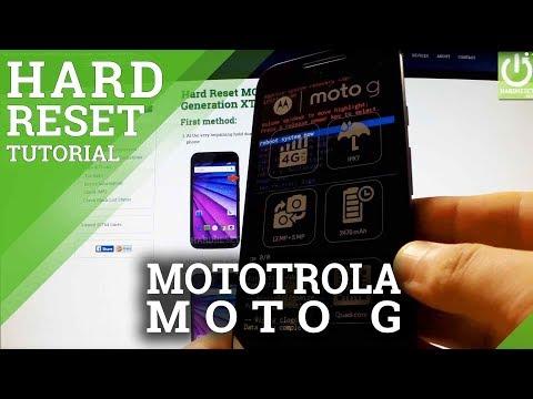 Cómo hacer un Hard Reset del MOTOROLA Moto G 3rd Generation - Restablecimiento De Fabrica