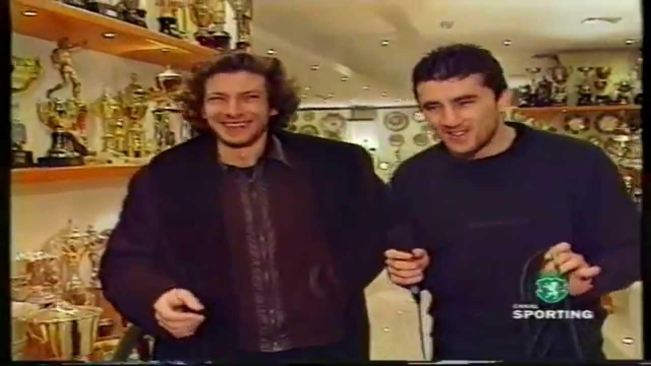 Iordanov (Sporting) e João Aguardela (Músico dos Sitiados) em 04/02/1999