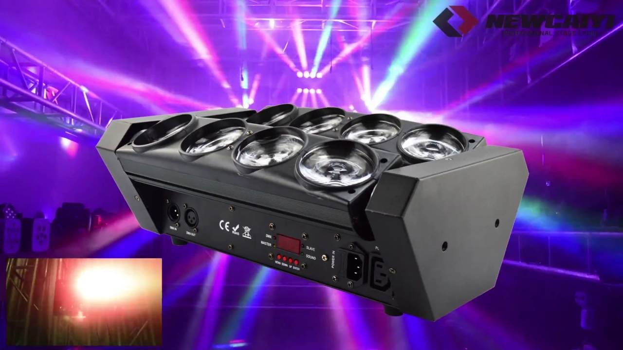 8x10w Rgbw 4in1 Led Spider Beam Moving Head Stage Lighting