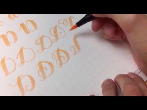 #letterattack Lettering Lessons - Brush Lettering Alphabet dD