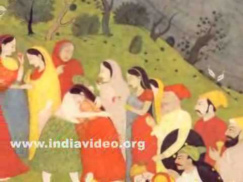 Rama meets Bharata, Pahari painting, Kangra style