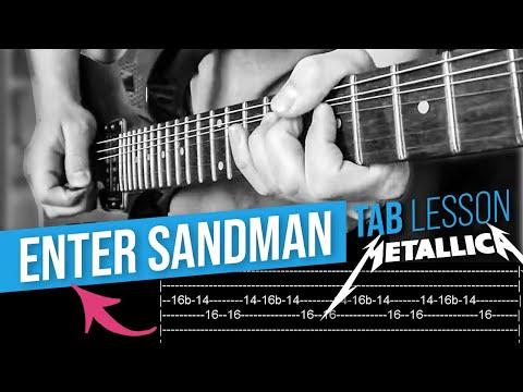 Enter Sandman Guitar Solo Lesson - Metallica(with tabs)