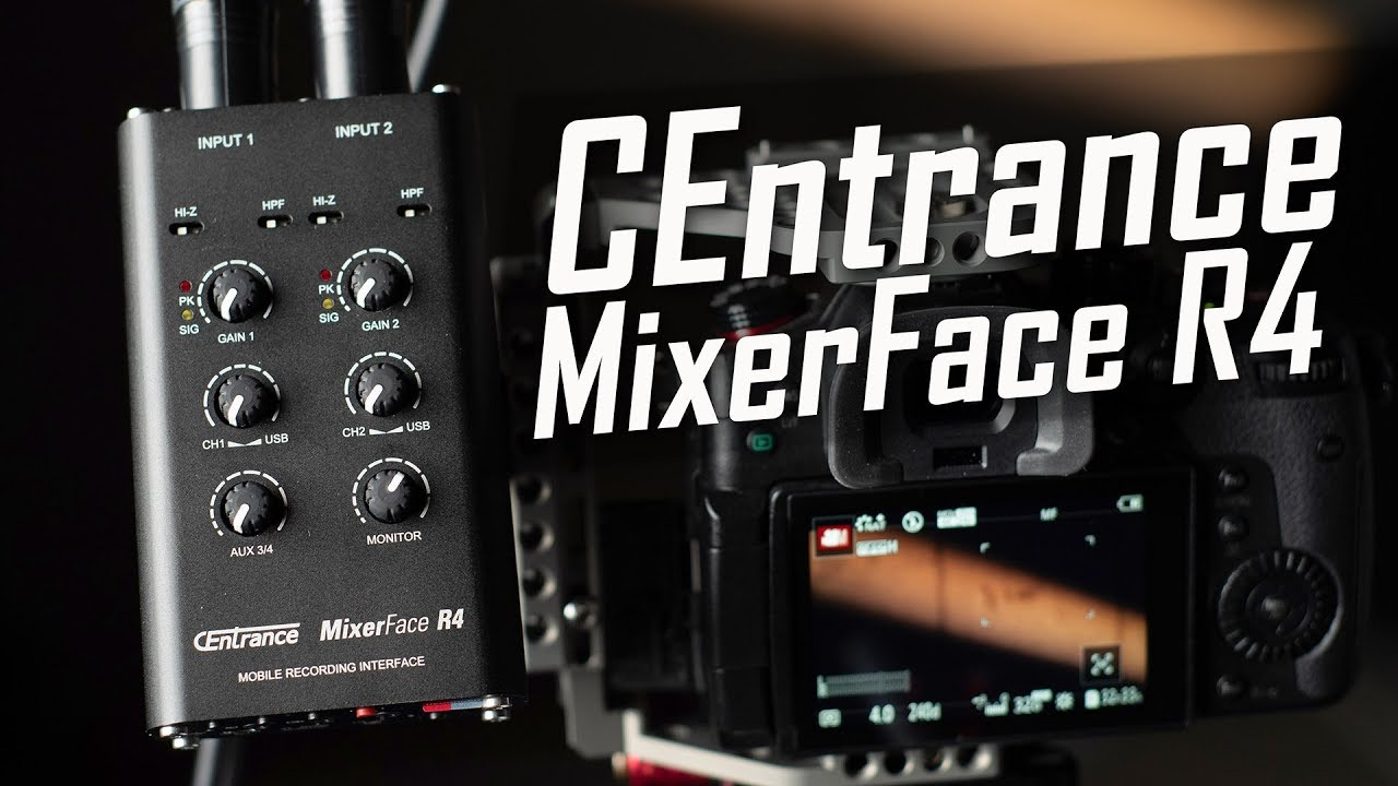 MixerFace R4 - Portable Mixer and Mobile Recording Interface