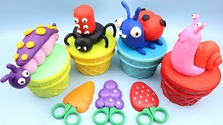 How To Make Caterpillar, Snail, Spider with Playdoh | Dora the Explorer Peppa Pig Surprise Egg Toys