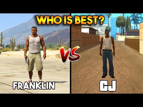 FRANKLIN VS CJ (WHO IS BEST?) [GTA 5 VS GTA SAN ANDREAS]