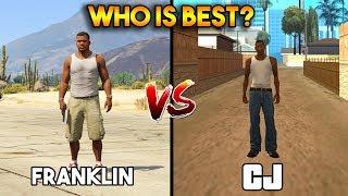 FRANKLIN VS CJ (WHO IS BEST?) [GTA 5 VS GTA SAN ANDREAS]